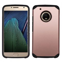 Motorola Moto G5 Plus Rose Gold/Black Astronoot Case