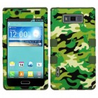 LG Splendor / Venice Green Woodland Camo/Army Green Hybrid Case