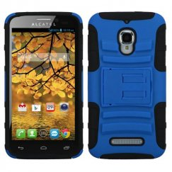 Alcatel One Touch Fierce Dark Blue/Black Advanced Armor Stand Case