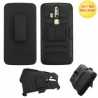 ZTE Axon Pro Black/Black Advanced Armor Stand Protector Cover (With Black Holster)