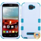 Alcatel One Touch Fierce 2 Ivory White/Tropical Teal Hybrid Phone Protector Cover