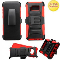 Samsung Galaxy S8 Plus Black/Red Advanced Armor Stand Case with Black Holster