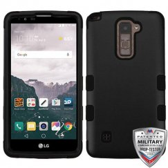 LG LG G Stylo 2 Plus Rubberized Black/Black Hybrid Case