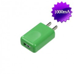 Green Square USB Travel Charger(1 Amp)