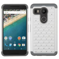 LG Nexus 5X Pearl White/Gray FullStar Case