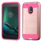 Motorola Moto G4 Play Rose Gold/Hot Pink Brushed Hybrid Case