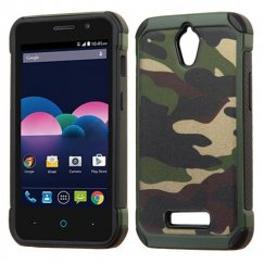 ZTE Obsidian Camouflage Green Backing/Black Astronoot Case