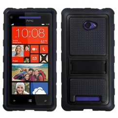 HTC Windows Phone 8x Black Gummy Armor Stand