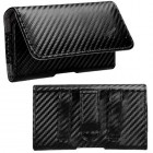 HTC HD2 Black/Gray Braided Horizontal Pouch