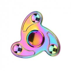 Rainbow Whirly Triangle Spinner