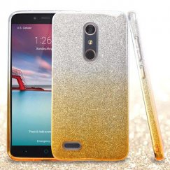 ZTE Grand X Max 2 Gold Gradient Glitter Hybrid Case