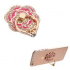 Hot Pink Flower Diamond Adhesive Ring Stand