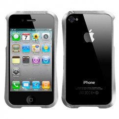 Apple iPhone 4/4s Silver Nitro Surround Shield with Chrome Coating Metal