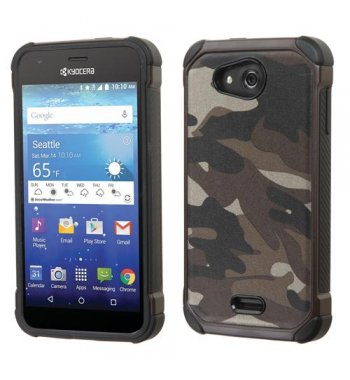 Kyocera Wave / Hydro Air Camouflage Gray Backing/Black Astronoot Case