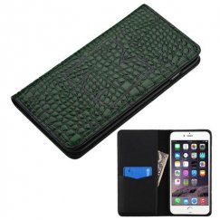 Apple iPhone 6/6s Plus Green Genuine Leather Wallet