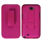 Samsung Galaxy Note 2 Rubberized Hot Pink Hybrid Holster (with Stand)