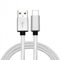 White USB Type-C Data Cable 5 FT