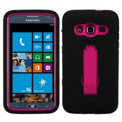 Samsung Ativ S Neo SGH-I187 Hot Pink/Black Symbiosis Stand Case