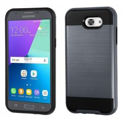 Samsung Galaxy J3 Ink Blue/Black Brushed Hybrid Case