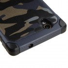 ZTE Warp Elite Camouflage Navy Blue Backing/Black Astronoot Phone Protector Cover