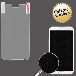 Samsung Galaxy Note 2 Glitter LCD Screen Protector/Golden