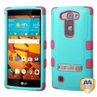 LG LS751 Volt 2 Natural Teal Green/Electric Pink Hybrid Case with Stand