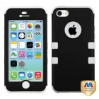 Apple iPhone 5c Rubberized Black/Solid White Hybrid Phone Protector Cover