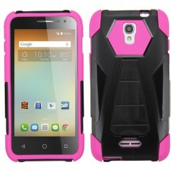 Alcatel One Touch Elevate Hot Pink Inverse Advanced Armor Stand Case