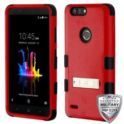 ZTE Blade Z Max / Sequoia Z982 Natural Red/Black Hybrid Case with Stand