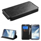 Samsung Galaxy Note 2 Black Wallet with Tray