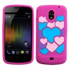 Samsung Galaxy Nexus Colorful Love/Hot Pink Pastel Skin Cover