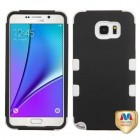 Samsung Galaxy Note 5 Rubberized Black/Solid White Hybrid Phone Protector Cover