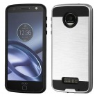 Motorola Moto Z Force Silver/Black Brushed Hybrid Case