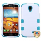 LG LS740 Volt Ivory White/Tropical Teal Hybrid Case