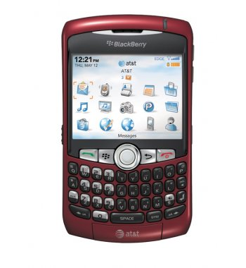 Blackberry Curve 8310 Bluetooth PDA GPS RED Phone Unlocked