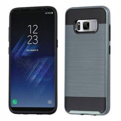 Samsung Galaxy S8 Ink Blue/Black Brushed Hybrid Case