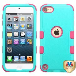 Apple iPod Touch (6th Generation) Natural Teal Green/Electric Pink Hybrid Case