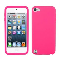 Apple iPod Touch (5th Generation) Solid Skin Cover - Electric Pink