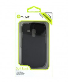 Samsung Galaxy S3 III Mini Muvit Soft Back Case - Black