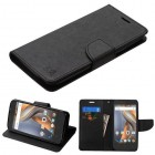 Coolpad Catalyst Black Pattern/Black Liner wallet (with card slot)