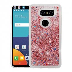 LG V30 Rose Gold Quicksand Glitter Hybrid Case