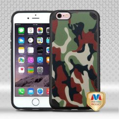 Apple iPhone 6/6s Plus Classic Camouflage/Black Hybrid Case-with Image