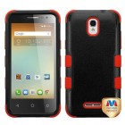 Alcatel One Touch Elevate Natural Black/Red Hybrid Phone Protector Cover