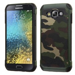 Samsung Galaxy E5 Camouflage Green Backing/Black Astronoot Case