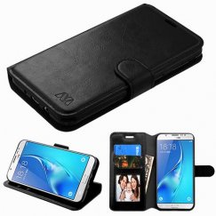 Samsung Galaxy J7 Black Wallet with Tray