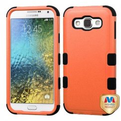 Samsung Galaxy E5 Natural Orange/Black Hybrid Case