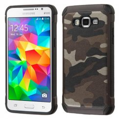 Samsung Galaxy Grand Prime Camouflage Gray Backing/Black Astronoot Case