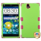 ZTE Grand X Max / Grand X Max Plus Natural Pearl Green/Electric Pink Hybrid Case