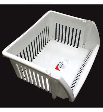 Stacking Basket Storage Bin (L=18.25*W=15.25*H=8.50 inch) (White)