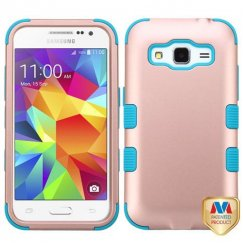Samsung Galaxy Core Prime Rose Gold/Tropical Teal Hybrid Case
